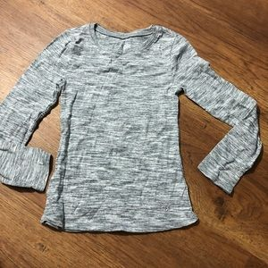 Girls justice gray long sleeve top 7